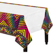 Neon Birthday Table Cover 54in x 96in