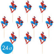 Spiderman Cupcake Picks 24ct