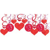 Valentines Day Swirl Decorations 30ct