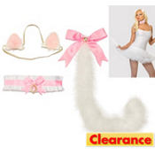 White and Pink Anime Kitty Accessory Kit