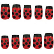 Fancy Ladybug Nails