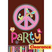 Hippie Chick Birthday Invitations 8ct
