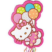 Pull String Hello Kitty Balloon Dreams Pinata 18in