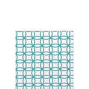 Ice Blue and White Circles Beverage Napkins 20ct