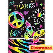 Neon Birthday Thank You Notes 8ct