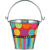 Dots and Stripes Birthday Pail