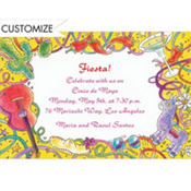 Mexican Fiesta Custom Invitation
