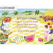 Luncheon on the Grass Custom Invitation