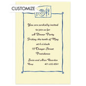Place Setting Border Custom Invitation