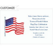 Wind Blown Flag Custom Invitation