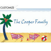 Beach Postcard Custom Thank You Note