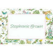 Fairytale Toile Custom Thank You Note
