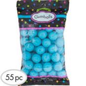 Caribbean Blue Gumballs 55pc
