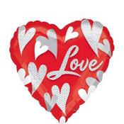 Foil Swirl Hearts Love Valentines Day Balloon 18in