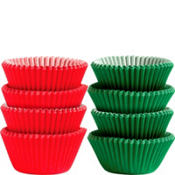 Green and Red Mini Candy Cups 72ct