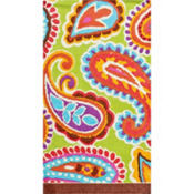 Bright Paisley Hand Towels 16ct