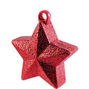 Red Glitter Star Balloon Weight 6oz