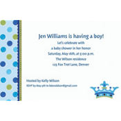 Little Prince Custom Baby Shower Invitation
