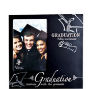 Black and Silver Graduation Photo Frame 4in x 6in