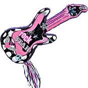 Rocker Girl Guitar Pinata 31in