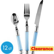 Acrylic Handle Caribbean Cutlery 12ct