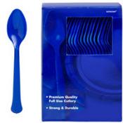 Royal Blue Premium Plastic Spoons 100ct
