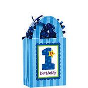 1st Birthday Blue Balloon Weight 5.7oz