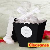 Black Popcorn Box Wedding Favor Kit 50ct