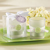 Cute as a Button Frosted-Glass Tealight Holder