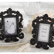 Black Baroque Frame Wedding Favor