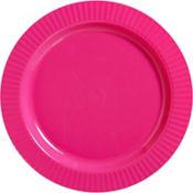 Bright Pink Premium Plastic Dinner Plates 16ct