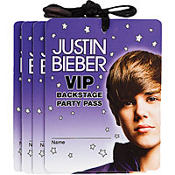 Justin Bieber VIP Name Badge Necklaces 4ct
