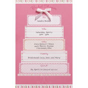 Pink Cake Printable Bridal Shower Invitations 12ct