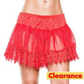 Red Teardrop Petticoat