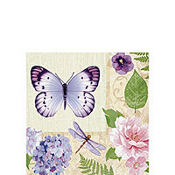 In the Garden Beverage Napkins 16ct