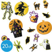 Halloween Glitter Cutouts Mega Value Pack 20pc