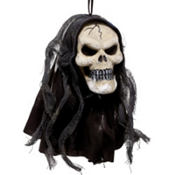 Hanging Black Reaper Head 8in