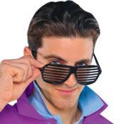 80s Black Slotted Glasses