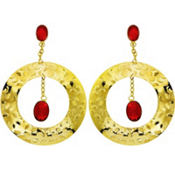 Ruby Pirate Earrings