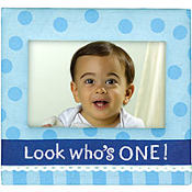 Fabric Boy 1st Birthday Photo Frame