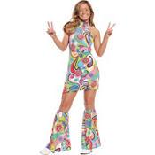 Teen Girls Far Out Hippie Costume