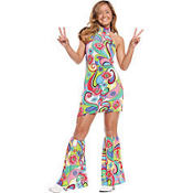 Teen Girls Far Out Hippie Costume