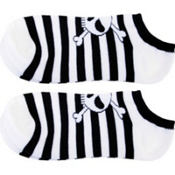 Black Stripe Skull Ankle Socks