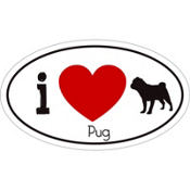Pug Car Magnet