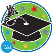 Colorful Graduation Cutouts 8in 12ct