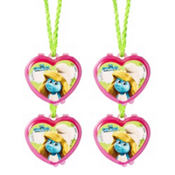 Smurfs Lip Gloss Necklaces 4ct