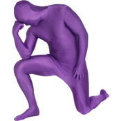 Adult Purple Morphsuit Plus Size