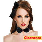 Black Sequin Bow Headband