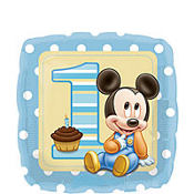 Foil Mickey Mouse 1st Birthday Balloon 18in