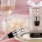 Love Chrome Bottle Stopper Wedding Favor